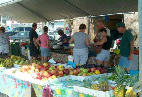 change where you shop - try a farmers market