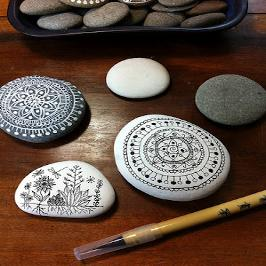 frujal gift of pebble painting