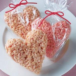 frugal food gifts: heart shaped crispy